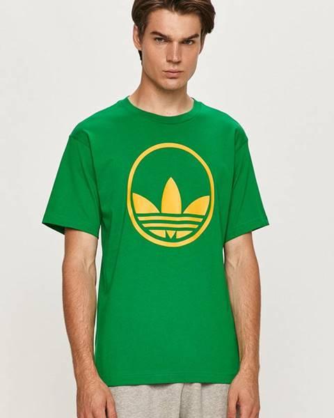Zelené tričko adidas Originals