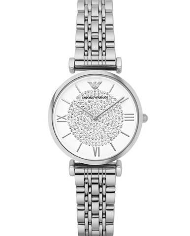 Strieborné hodinky Emporio Armani
