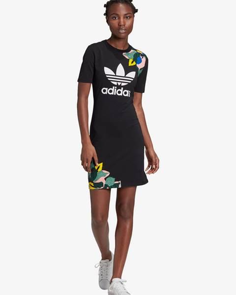 Čierne minišaty adidas Originals