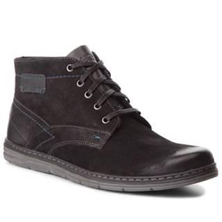 Šnurovacia obuv  MB-NIXON-261 nubuk,koža(useň) lícová