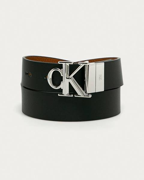 Čierny opasok Calvin Klein Jeans