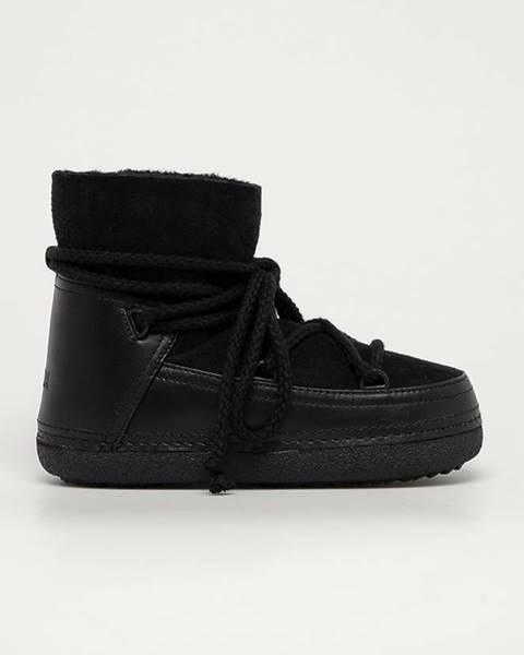 Čierne zimná obuv Inuikii