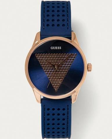 Tmavomodré hodinky Guess Jeans