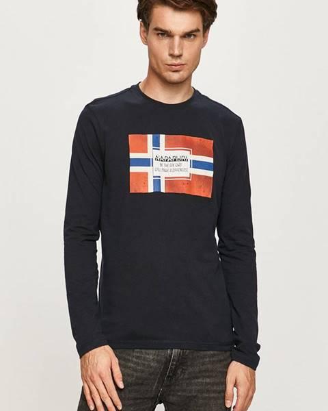 Tmavomodré tričko Napapijri