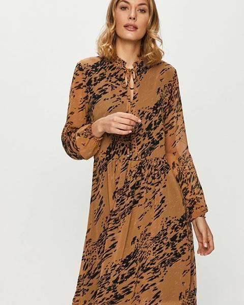 Hnedé šaty Calvin Klein