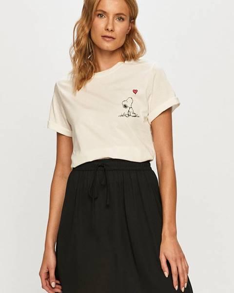 Béžové tričko Jacqueline de Yong