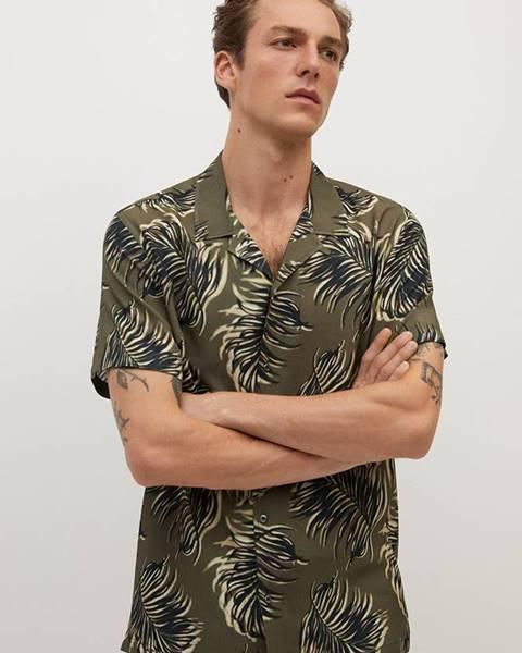 Hnedá košeľa Mango Man