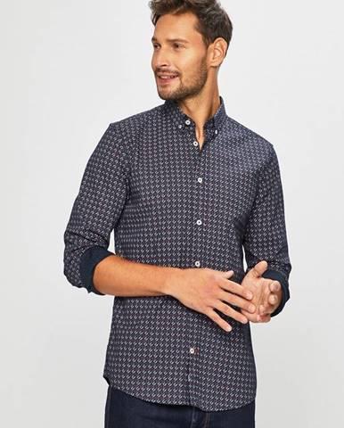 Tmavomodrá košeľa Tom Tailor Denim