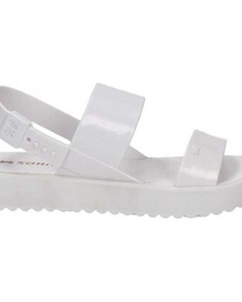 Biele sandále Zaxy