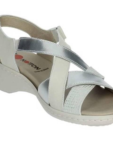 Biele sandále Notton