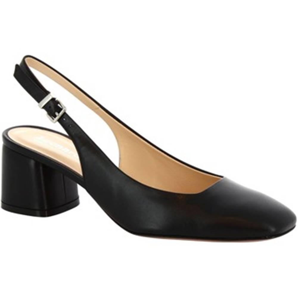 Leonardo Shoes Lodičky  4586 NAPPA NERO