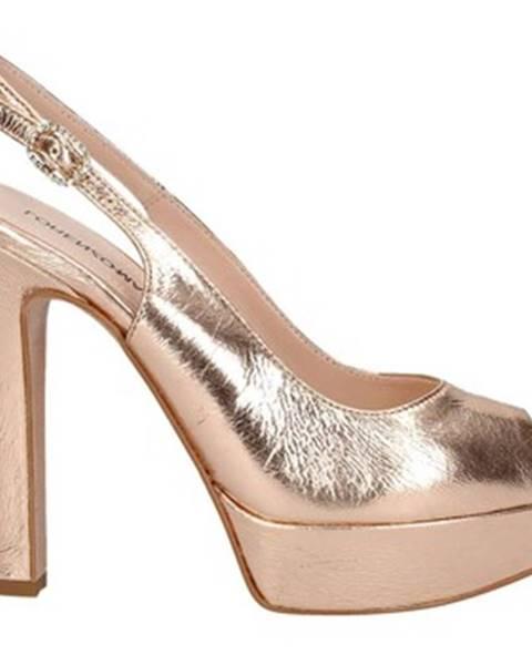 Béžové sandále Lorenzo Mari