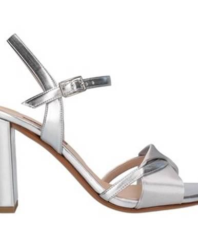 Strieborné sandále Albano