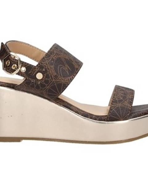Hnedé sandále Gattinoni