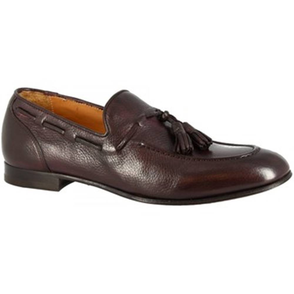 Leonardo Shoes Mokasíny  8318 BOTTOLATO CIOCCOLATO
