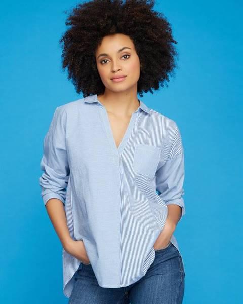Modrá košeľa M&Co