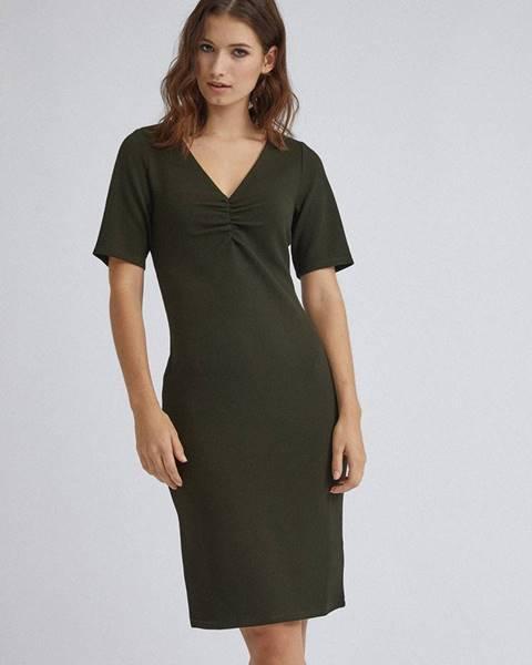 Tmavozelené šaty Dorothy Perkins