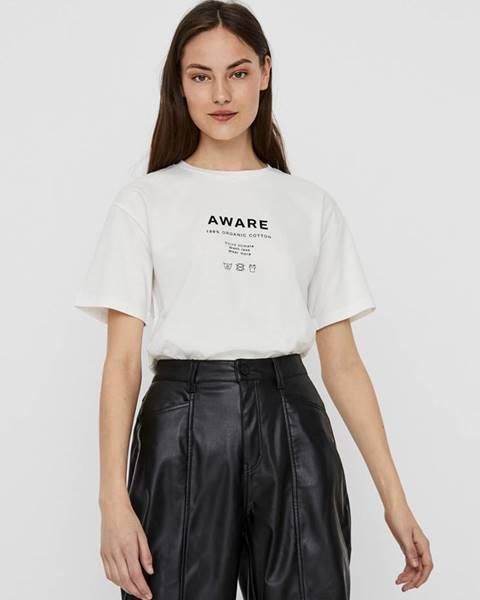Biele tričko AWARE by VERO MODA