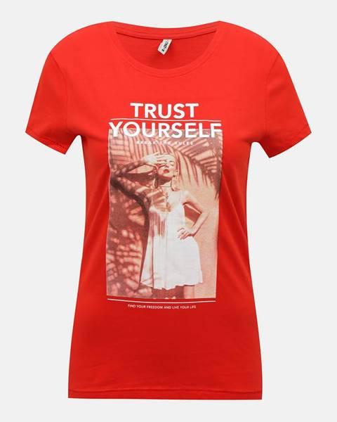 Červené tričko Only