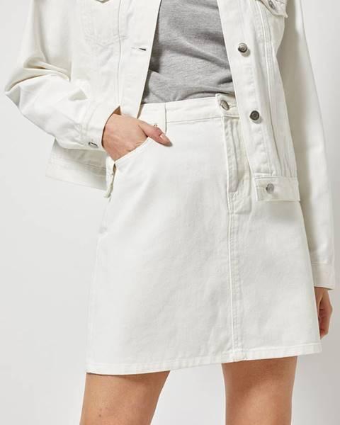 Biela sukňa Dorothy Perkins