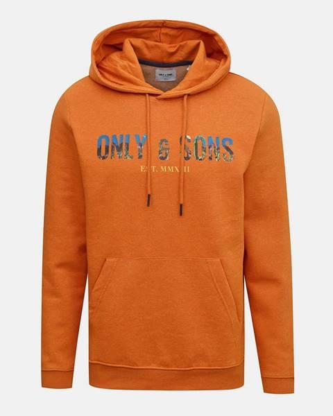 Oranžová mikina ONLY & SONS