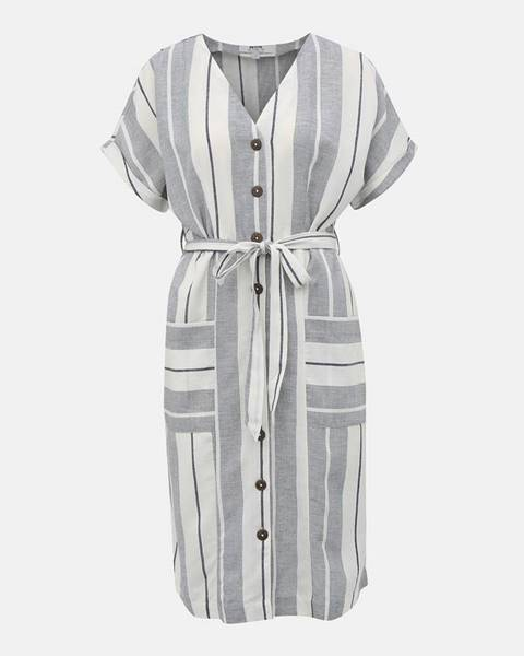 Sivé šaty Dorothy Perkins Petite
