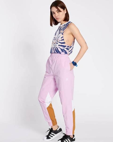 Fialové nohavice adidas Originals