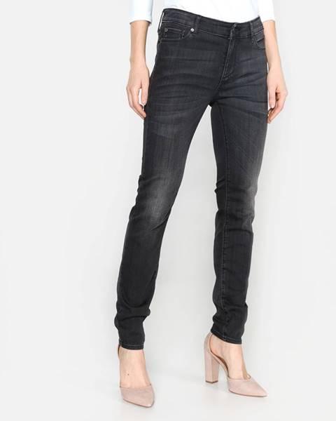 Sivé skinny nohavice Armani Exchange
