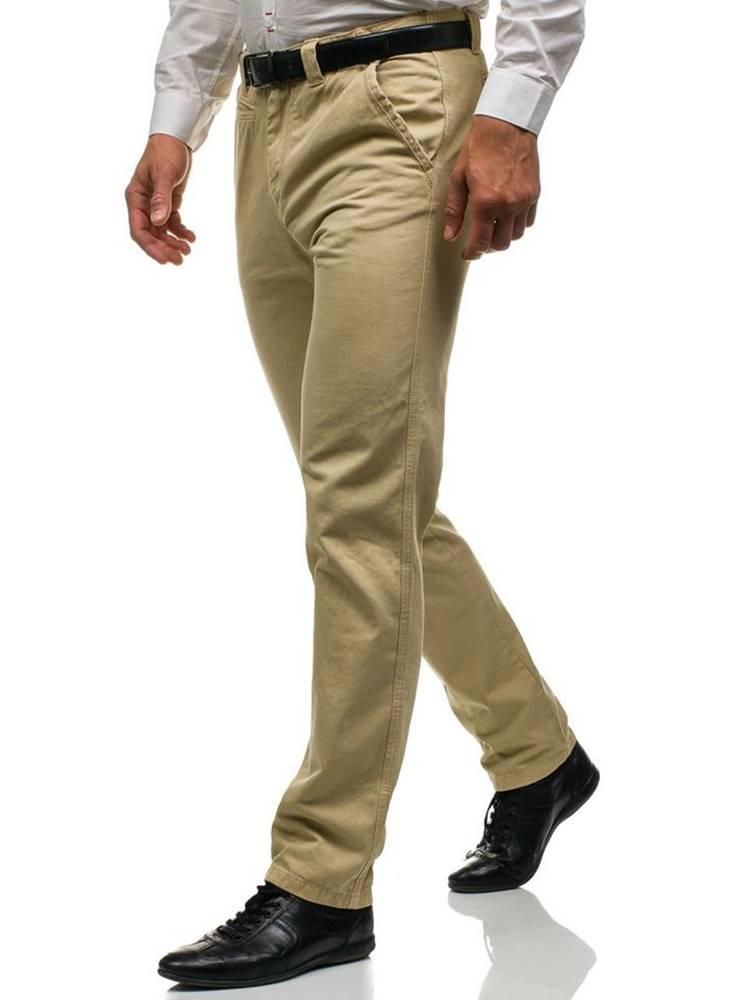 Béžové pánske chinos nohavice