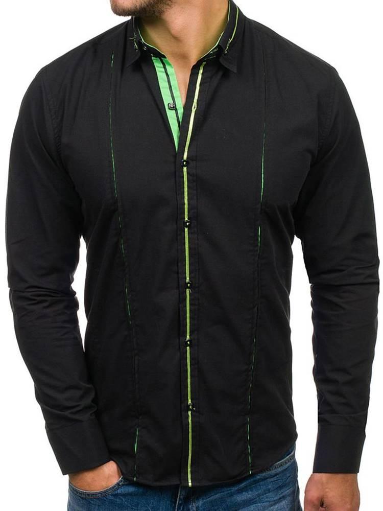 Čierno-zelená pánska elegan...