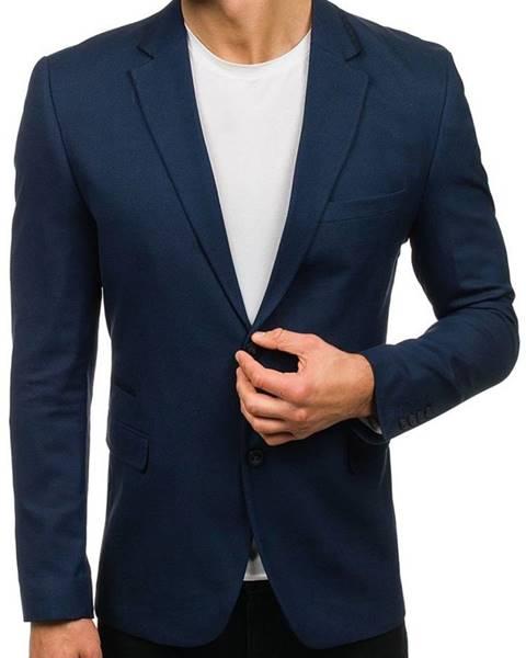 Tmavomodré pánske elegantné sako