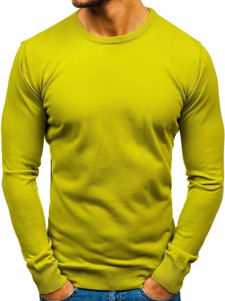 Svetlozelený pánsky sveter