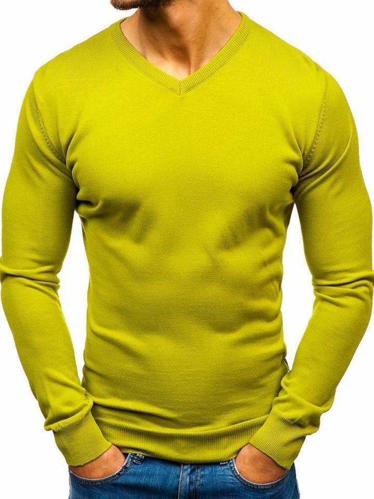 Svetlozelený pánsky sveter ...