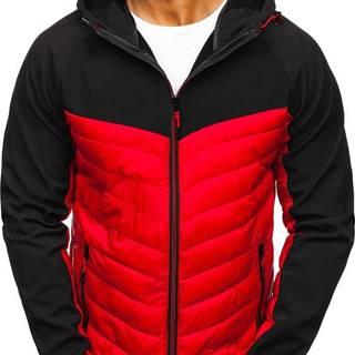 Červená pánska športová prechodná bunda