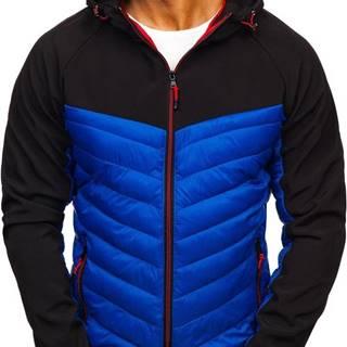 J.STYLE Modrá pánska športová prechodná bunda