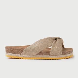 Papuče  Bio Foulard Sandal - Linen Gold Hnedá