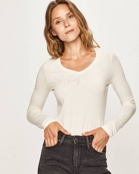 Béžové tričko Pepe jeans