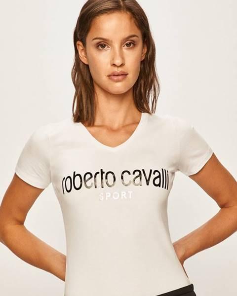 Biele tričko Roberto Cavalli Sport