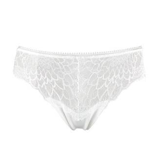 CALVIN KLEIN - čipkované nohavičky vo vanilkovej farbe-S