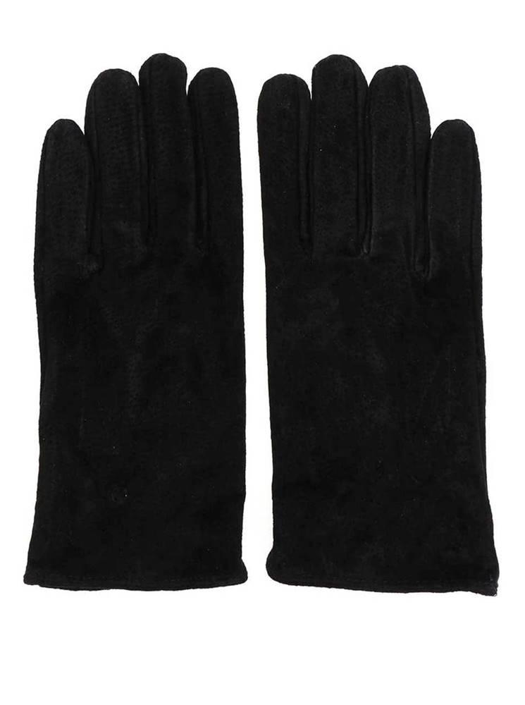 Čierné kožené rukavice Piec...