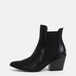 Vero Moda  Čierne členkové topánky VERO MODA Jess