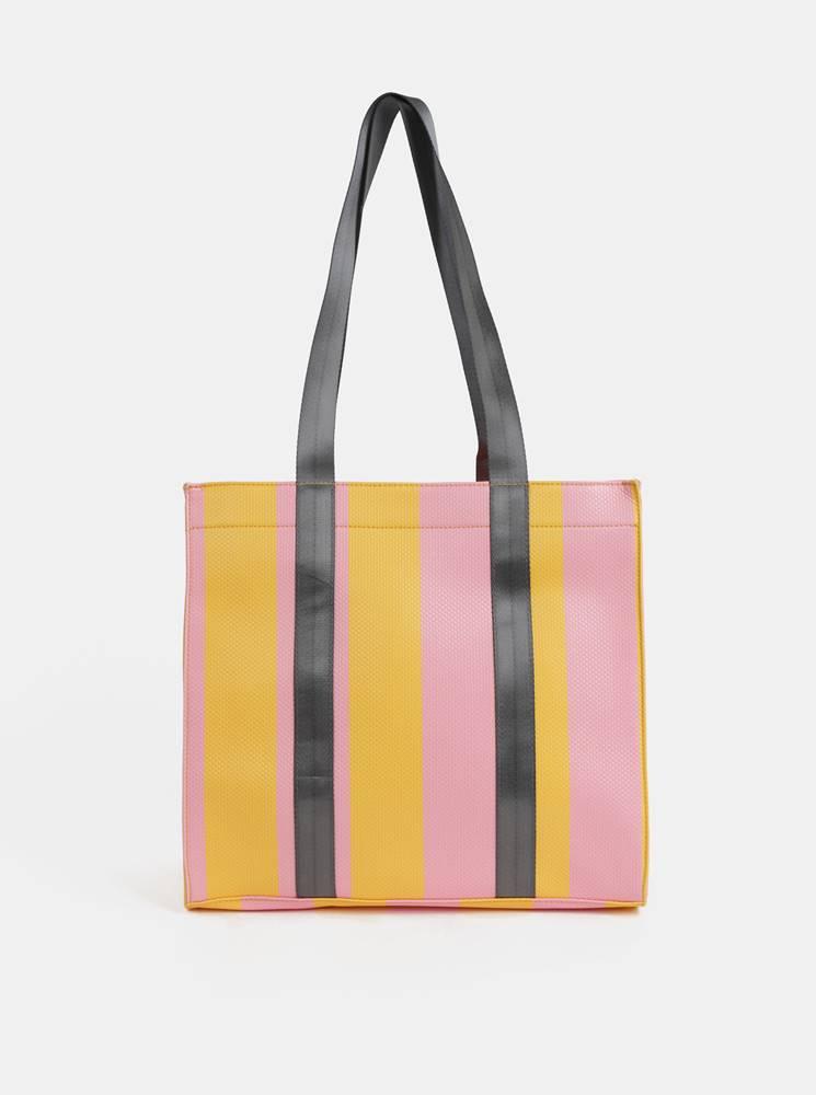 Žlto–ružová kabelka Pieces ...