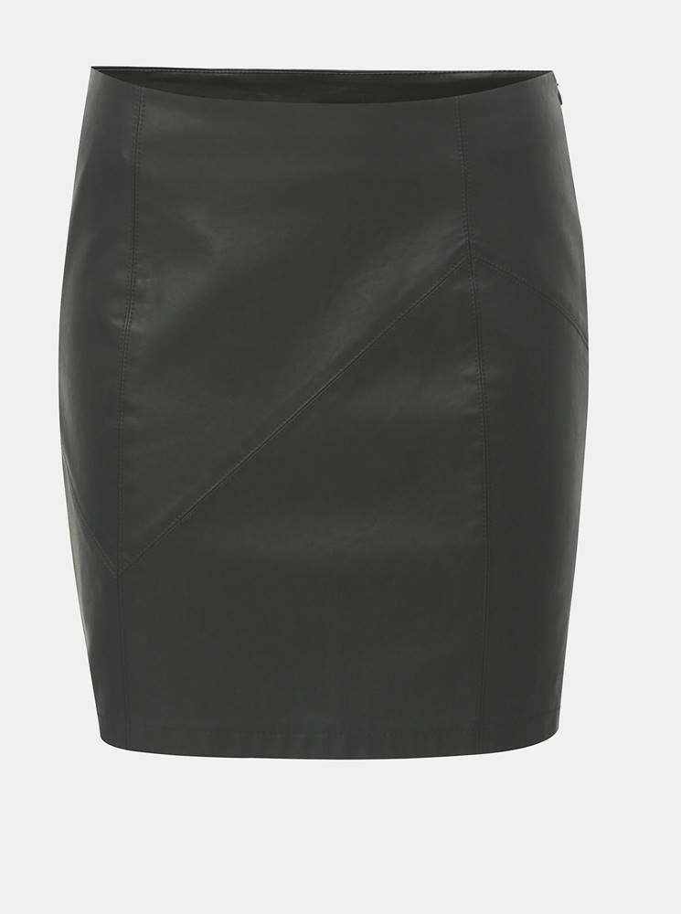 Čierna koženková minisukňa ...