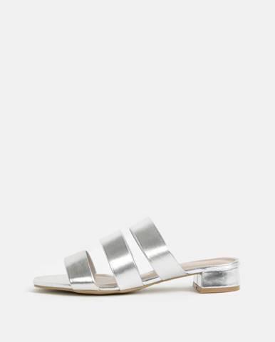 Strieborné papuče Dorothy Perkins