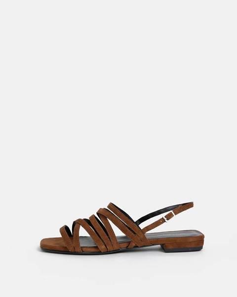 Vagabond  Hnedé dámske semišové sandále Vagabond Becky