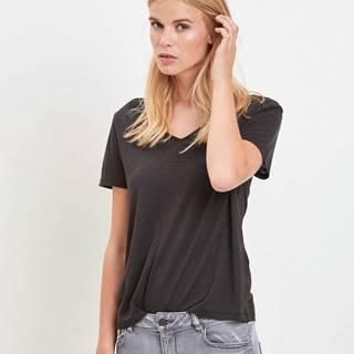 Čierne tričko VILA Noel