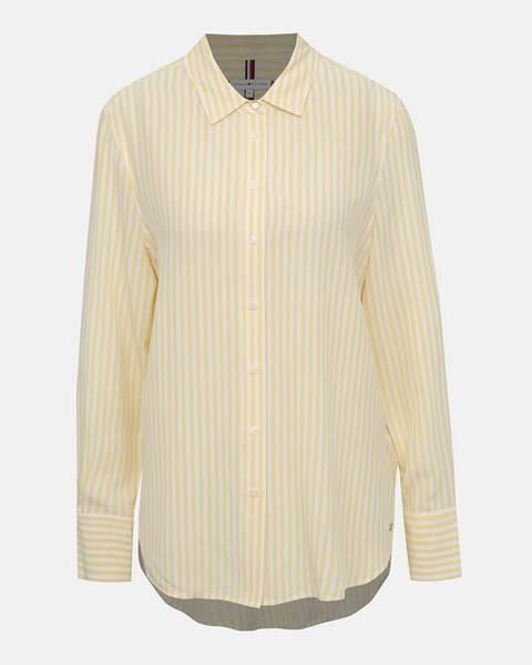 Tommy Hilfiger Žlutá dámska pruhovaná košeľa Tommy Hilfiger Fleur