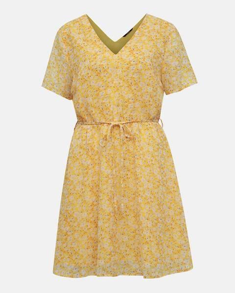 Only  Žlté kvetované šaty ONLY Tone