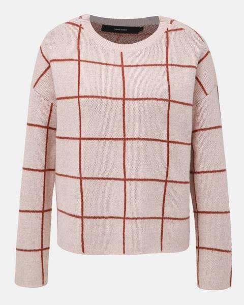 Vero Moda Rúžový vzorovaný sveter VERO MODA Doffy