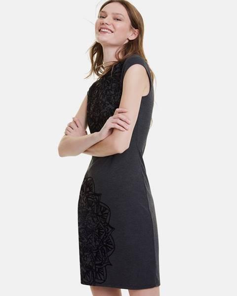 Tmavosivé šaty Desigual